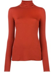 Roberto Collina Turtleneck Jumper Yellow Orange