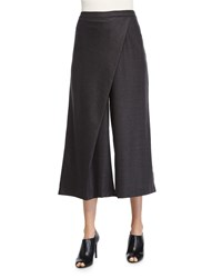 Eileen Fisher Wide Leg Karate Pants Charcoal Petite Grey