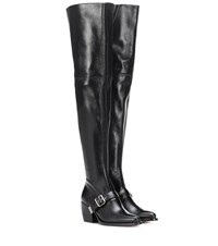 Chloe Over The Knee Leather Boots Black