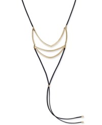 Inc International Concepts Gold Tone Geometric Statement Necklace Only At Macy's Black