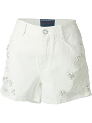 Ermanno Scervino Distressed Pearl Detailing Shorts