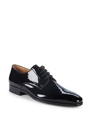 Saks Fifth Avenue Patent Leather Derby Shoes Black