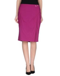 Roccobarocco Knee Length Skirts Garnet