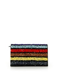 Alice Olivia Multi Stripe Sequin Clutch