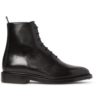 Thom Browne Whole Cut Leather Boots Black
