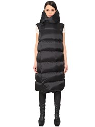 Rick Owens Hooded And Quilted Long Vest