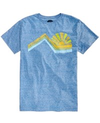 Candc California C C Into The Sun Heather Graphic Print T Shirt Snow Blue