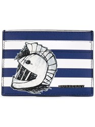 Burberry 'Pallas Heads 1954' Striped Card Holder Men Cotton Leather One Size Blue