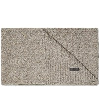 Fred Perry Flecked Cable Scarf Neutrals