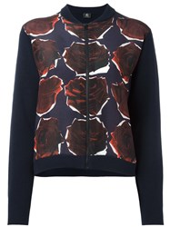 Paul Smith Ps By Rose Detail Bomber Jacket Blue