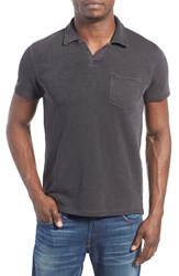 Men's Lucky Brand 'Notch' Knit Polo Black Mountain