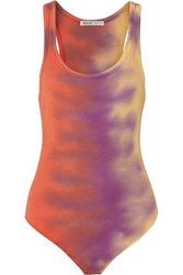 Agolde Tie Dyed Ribbed Stretch Jersey Bodysuit Pink