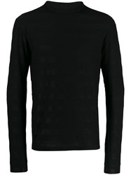 Saint Laurent Glittered Turtle Neck Sweater Black