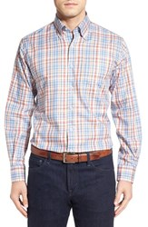 Peter Millar Men's 'Melange Plaid' Regular Fit Sport Shirt Harvest