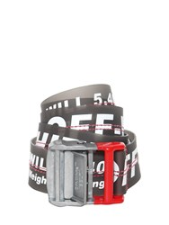 Off White 35Mm Long Industrial Belt Black Red