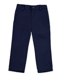 Pili Carrera Woven Rolled Hem Pants Navy Size 2 6