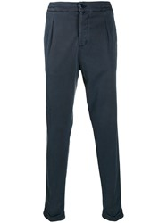 Kiton Elasticated Waistband Trousers Blue