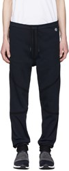 Isaora Navy Taped Quick Dry Lounge Pants