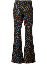 Moschino Flower Power Flared Trousers Black