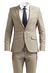Selected Homme One Tax Cash Suit Greige Light Grey
