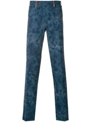Missoni Printed Tailored Trousers Blue