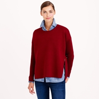 J.Crew Collection Bonded Merino Wool Zip Sweater