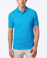Club Room Men's Big And Tall Performance Uv Protection Striped Polo Blue