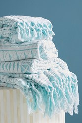 Anthropologie Marcela Towel Collection Turquoise