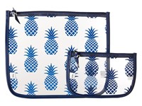 Echo Pineapple Clearly Cool Pouch Navy Handbags