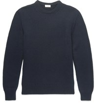 Saint Laurent Slim Fit Cashmere Sweater Navy