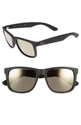 Men's Ray Ban 54Mm Sunglasses Black Brown Mirror Gold