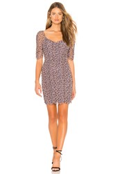 1.State Ditsy Drift Ruched Dress Purple