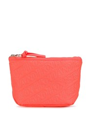 House Of Holland Embroidered Logo Clutch Orange