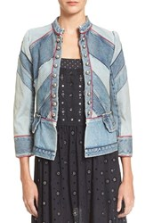Marc By Marc Jacobs Women's Marc Jacobs Chevron Denim Military Jacket