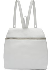 Kara Grey Leather Backpack
