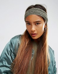 Asos Net Headband Khaki Green