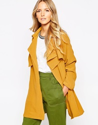 Liquorish Lightweight Waterfall Jacket Mustard
