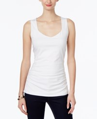 Inc International Concepts Ruched Tank Top Only At Macy's Bright White