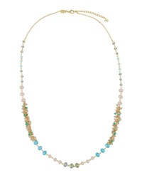 Emily And Ashley Long Simulated Crystal Beaded Necklace Green