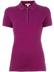 Burberry Brit Classic Polo Shirt Pink And Purple