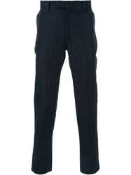 Strateas Carlucci Textured Slim Fit Trousers Black