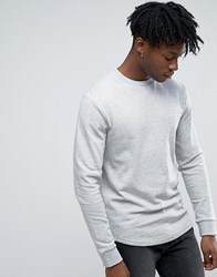 Only And Sons Longline Sweatshirt Grey Marl