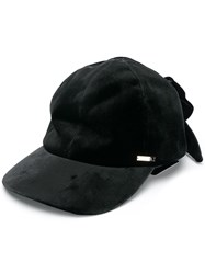 Ca4la Bow Tied Cap Black