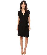 Lanston Sleeveless Shirtdress Black Women's Sleeveless