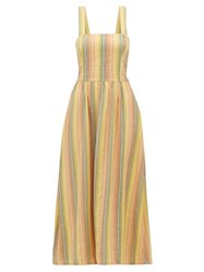 Ace And Jig Willa Striped Crossover Back Cotton Dress Multi