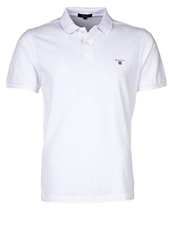 Gant Solid Pique Polo Shirt White