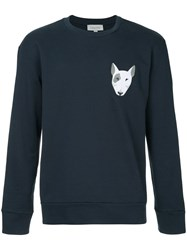 Ck Calvin Klein Embroidered Dog Sweatshirt Blue