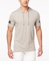 Inc International Concepts I.N.C. Short Sleeve Pullover Hoodie Tiramisu