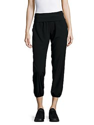 Betsey Johnson Solid Cropped Pants Black