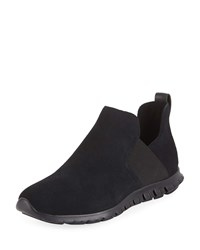 Cole Haan Zerogrand Suede Slip On Sneakers Black